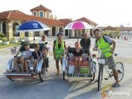 Family bike and trishaw tour.