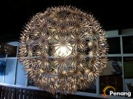 Glittering lamp leading to shopping owlet.